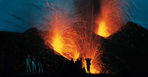 Volcán Hekla - erupción