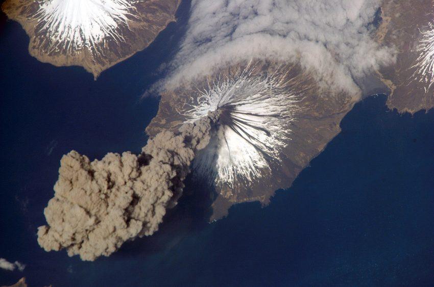 Contaminación de un volcán