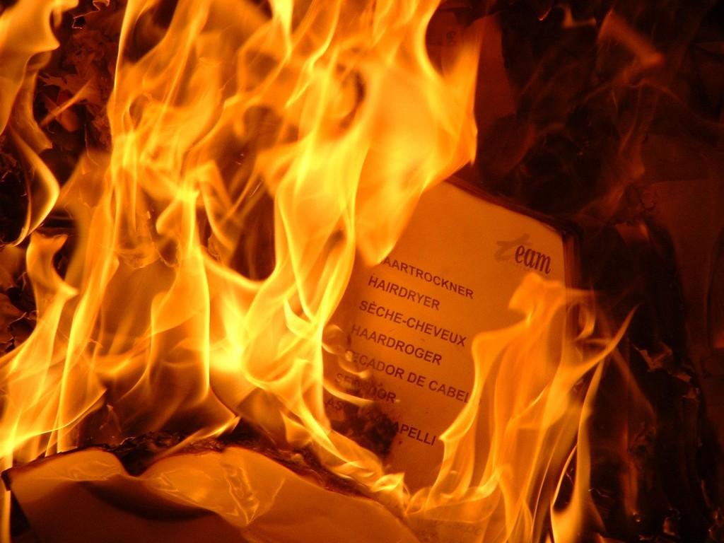 combustion papel (oxidacion)