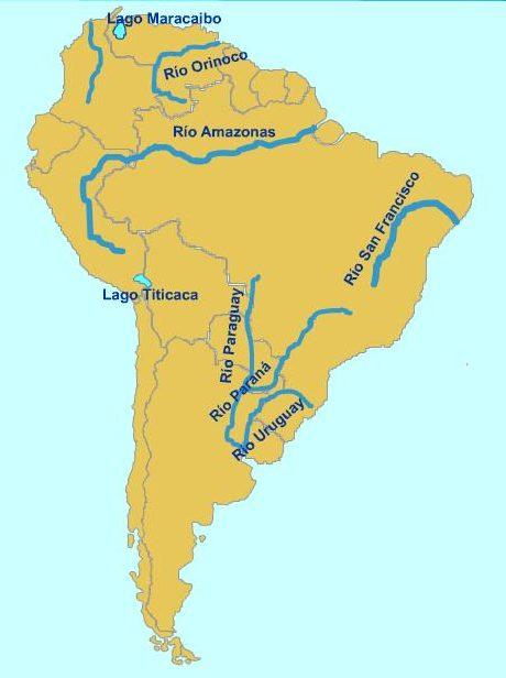ríos de américa del sur