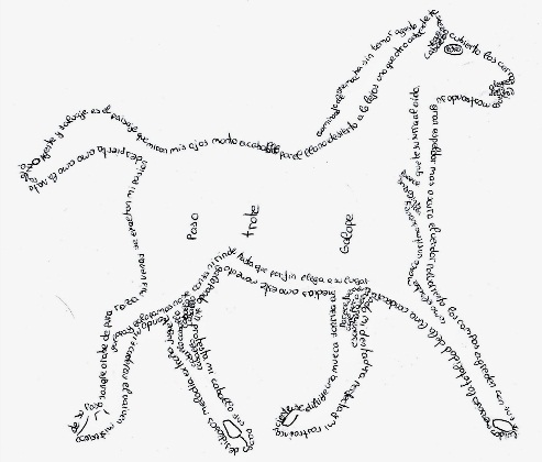 caballo caligrama