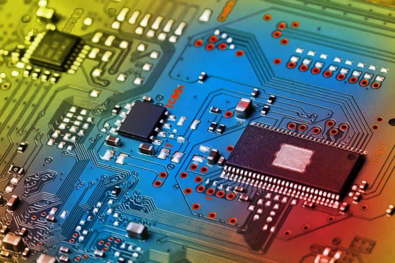 circuito de electronica para la conducción de electricidad