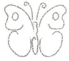 caligrama de mariposa