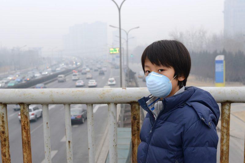 Aire contaminado en Beijing