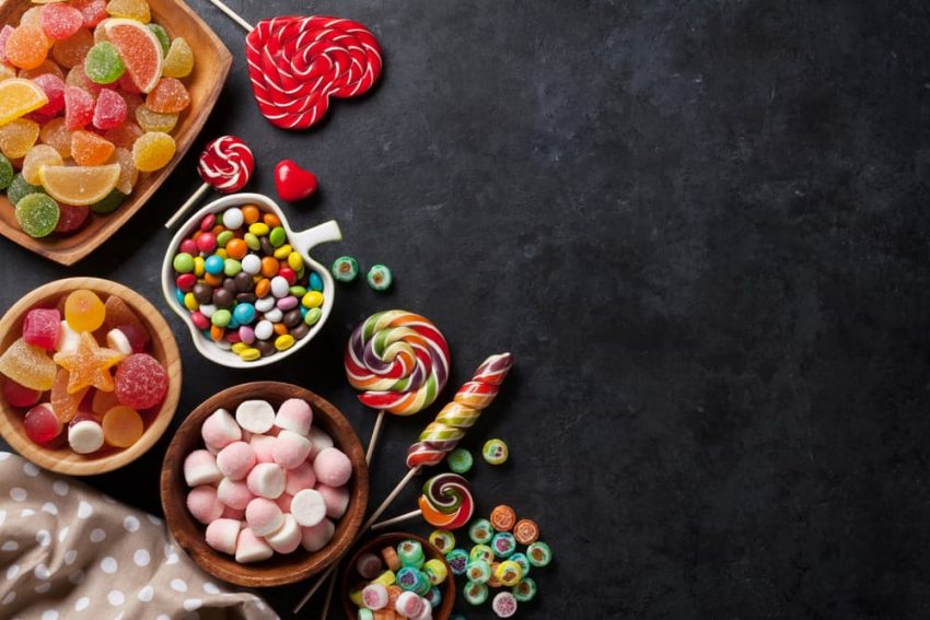 Carbohidratos en dulces y caramelos