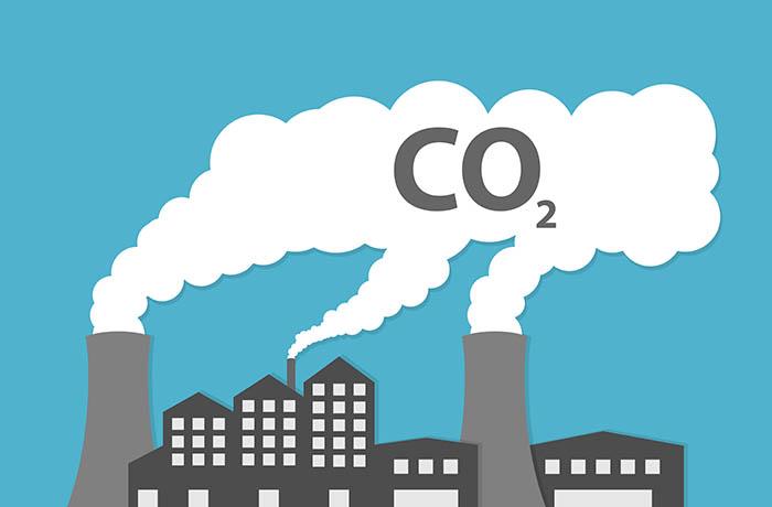 Fábricas y la contaminación del aire.