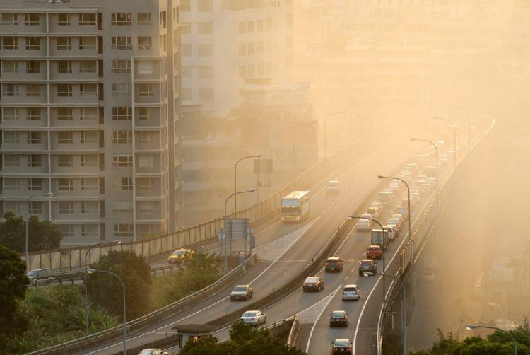 Contaminación en la ciudad.