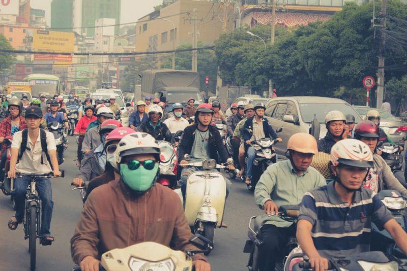Las motos y contaminacion del aire en vietnam