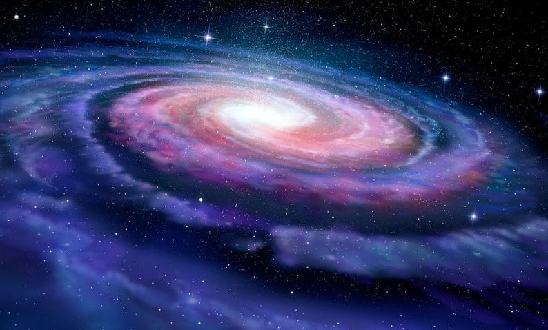 galaxia - via lactea (ilustracion)