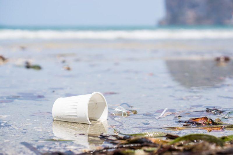 plástico contaminando el agua