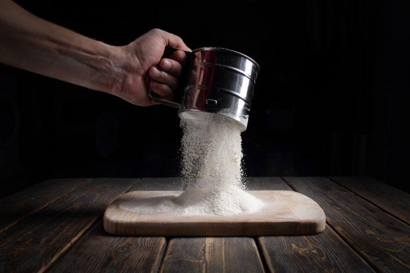 tamizado de harina