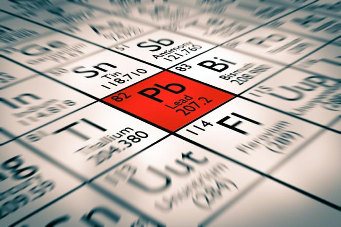 plomo - elemento