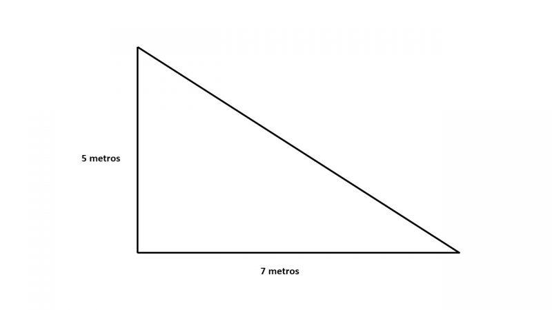 triángulo rectángulo - área